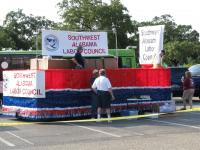Staging - Southwest Alabama Labor Council lead float.
