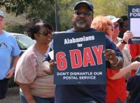 Postal Workers Rally, Public Safety Memorial Park, Mobile, AL, March 24, 2013